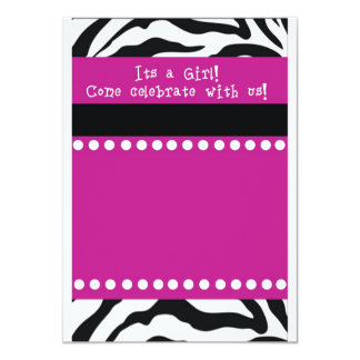 Zebra Girl Baby shower Invitation