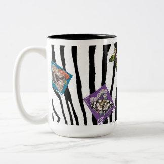 Zebra Goes Postal Two-Tone Coffee Mug