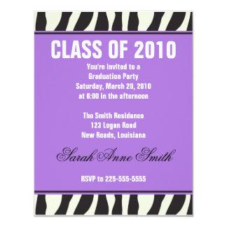 Zebra Graduation Card