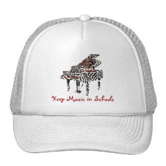 Zebra Grand Piano ~ Hat