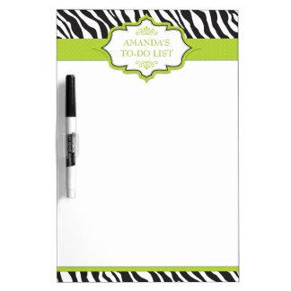 Zebra Green Ribbon Dry-Erase Whiteboard