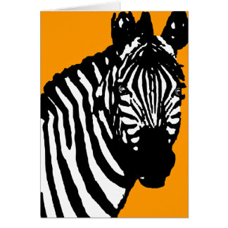 zebra. greeting card