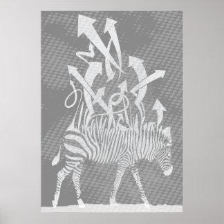 zebra-greywhitespots posters