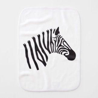 ZEBRA HEAD ART BURP CLOTH