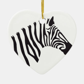 ZEBRA HEAD ART CERAMIC ORNAMENT