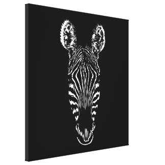 Zebra Head Canvas Print