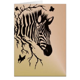 Zebra Head Design Card