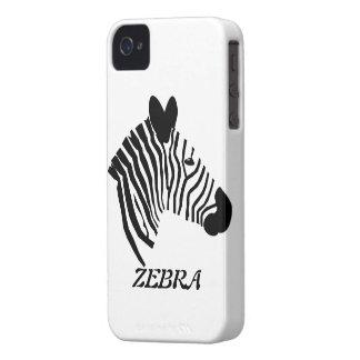 Zebra head illustration art blackberry bold case