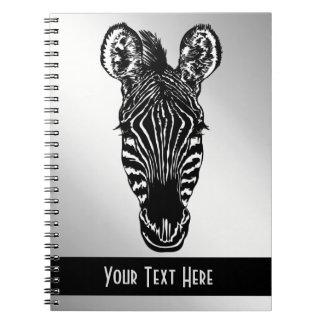 Zebra Head Personal Spiral Notebook