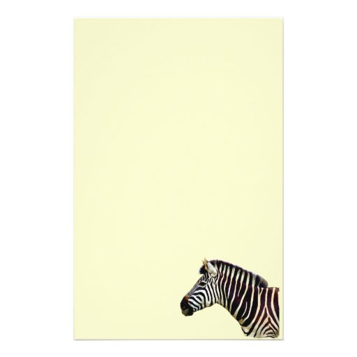 Zebra Head to Shoulder Customized Stationery