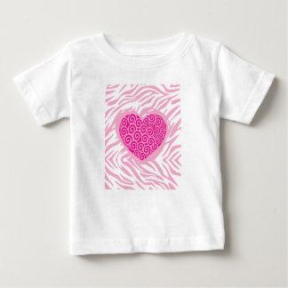 zebra heart baby T-Shirt