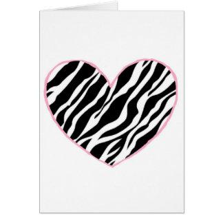 Zebra Heart Greeting Card