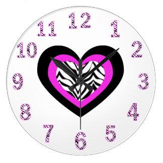 Zebra Heart Clock