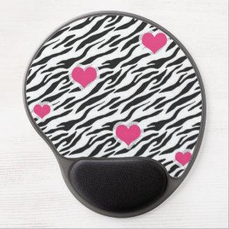 Zebra Heart Pattern Gel Mouse PadGel Mouse Pad Gel Mouse Mats