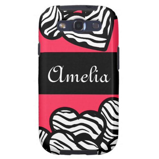 Zebra hearts BlackBerry Samsung Galaxy Case Galaxy S3 Covers