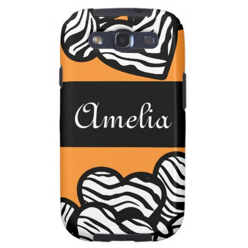 Zebra hearts BlackBerry Samsung Galaxy Case Samsung Galaxy S3 Covers