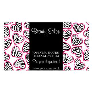 Zebra Hearts Design Business Card