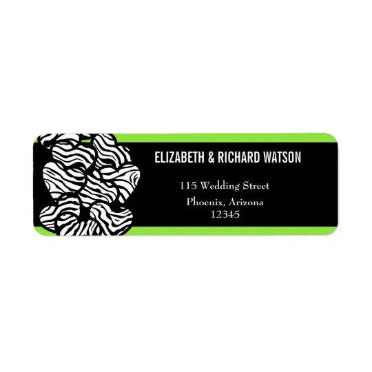 Zebra hearts Wedding Address Label