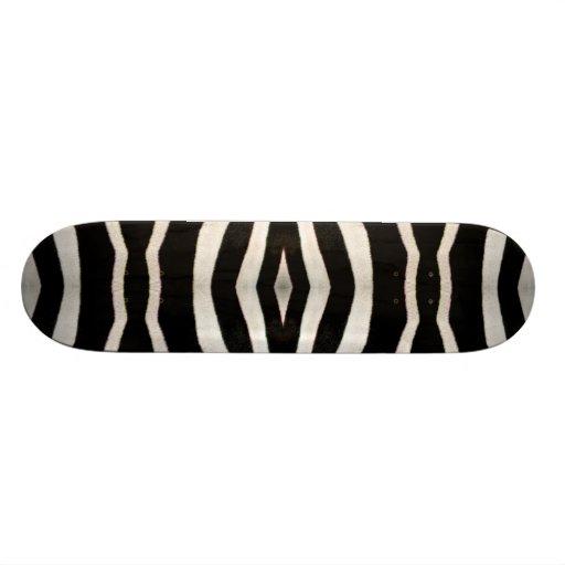 Zebra Hide Photograph Skate Board