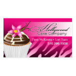 Zebra Hollywood Cupcakes - ombre fuschia Pack Of Standard Business Cards