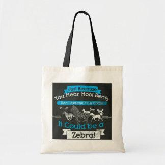Zebra hoofbeats bag