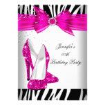 Zebra Hot Pink High Heel Shoe Black Birthday Party