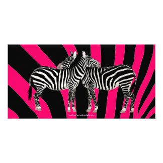 Zebra Hugs Photo Cards