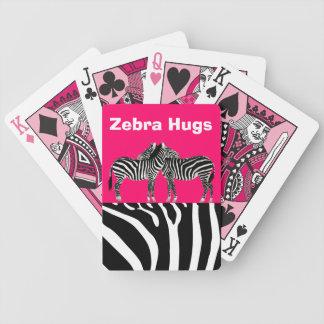 Zebra Hugs Poker Deck