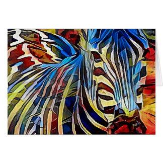 Zebra in Africa Card