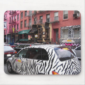 zebra in manhattan NYC mousepad design