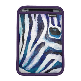 Zebra in Teal and Purple iPad Mini Sleeve