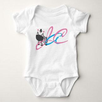 Zebra Inital Baby Bodysuit