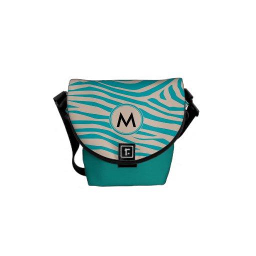 Zebra Inspired Monogrammed Pattern Courier Bags