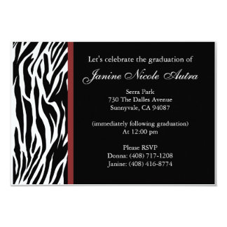 Zebra Invitations