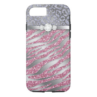 Zebra iPhone 7 Tough Jewelry Glitter PS iPhone 7 Case