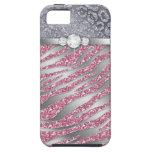 Zebra iPhone Case Mate Tough Jewellery Glitter PS iPhone 5 Cases