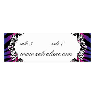 Zebra Jewelry Hang Tag Fashion Business Card Templates