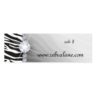 Zebra Jewelry Hang Tag Fashion Pack Of Skinny Business Cards