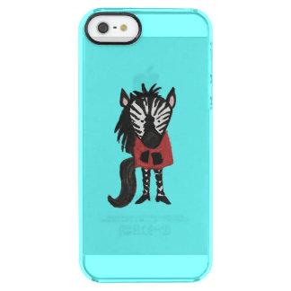 Zebra Jungle Friends Baby Animal on Aqua Clear iPhone SE/5/5s Case