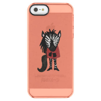 Zebra Jungle Friends Baby Animal on Coral Clear iPhone SE/5/5s Case