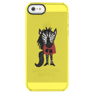 Zebra Jungle Friends Baby Animal on Yellow Clear iPhone SE/5/5s Case