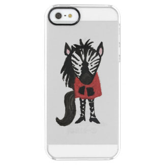 Zebra Jungle Friends Baby Animal Water Color Clear iPhone SE/5/5s Case