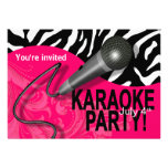 Zebra Karaoke Girls' Night Out Party Personalised Announcements