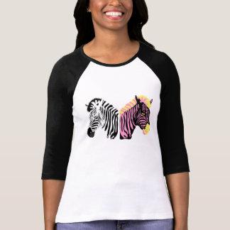Zebra Ladies Raglan Tshirt