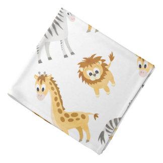Zebra Lion and Giraffe Cute Baby Animals Bandana
