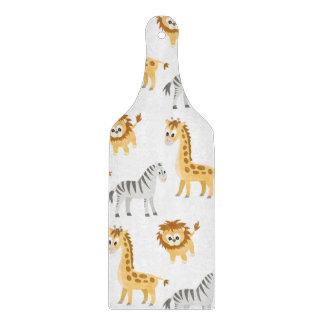 Zebra Lion and Giraffe Cute Baby Animals Cutting Board