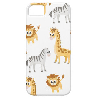 Zebra Lion and Giraffe Cute Baby Animals iPhone 5 Cover