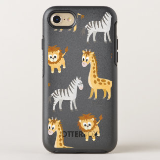 Zebra Lion and Giraffe Cute Baby Animals OtterBox Symmetry iPhone 8/7 Case