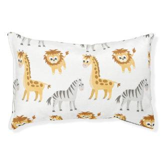 Zebra Lion and Giraffe Cute Baby Animals Pet Bed