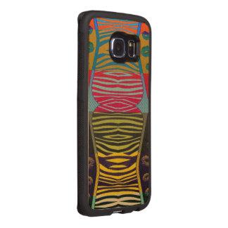 Zebra Lips POP Art Wood Phone Case